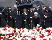 """الآلاف يتظاهرون فى """"يريفان"""" إحياء لضحايا الأرمن فى """"ناجورنى قره باج"""""""