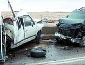 توقف حركة المرور بسبب تصادم أربع سيارات ملاكى بطريق إسكندرية الصحرواى