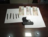 مدرس وراء سرقة طبنجة من خزينة مقاول في المنيا