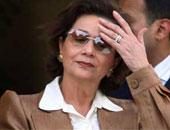 سوزان مبارك تصل مستشفى المعادى لتهنئة زوجها بالبراءة