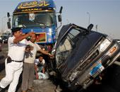 إصابة 22 شخصا فى حادثى مرور منفصلين بالسويس