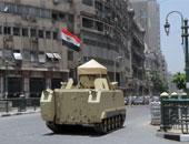 """قوات الجيش تواصل نشر الآليات العسكرية بـ""""التحرير"""" فى ثانى أيام العيد"""
