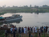 """""""الإنقاذ النهرى"""" تكثف جهودها لانتشال جثة شاب من مياه مصرف كوتشنر بكفر الشيخ"""