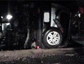 إصابة ضابط و3 أفراد شرطة فى انقلاب سيارة شرطة بالمنيا