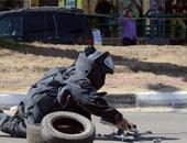 انفجار عبوة ناسفة بحوزة شخص يستقل دراجة بخارية أعلى دائرى أحمد عرابى