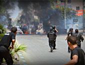الأمن يلاحق عناصر الإخوان فى شوارع الطالبية