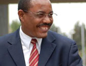 رئيس وزراء أثيوبيا يستقبل الرئيس أوباما بالقصر الوطنى بأديس أبابا