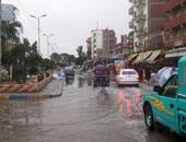 أمطار رعدية غزيرة تضرب شمال سيناء.. وانخفاض فى درجات الحرارة
