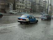 سقوط أمطار ثلجية وبرق ورعد على مدن دمياط.. صور وفيديو