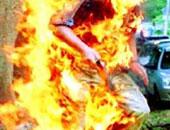 إحالة أوراق عامل للمفتى أشعل النار بزوجته حتى الموت بـ 15مايو