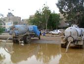 أهالى المقطم يطالبون مسئولى الحى بتوفير سيارات لشفط مياه الأمطار