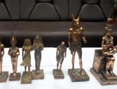 فيديو ضبط 359 تمثالا أثريا من العصر الفرعونى فى الفيوم