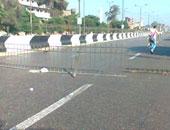 غلق طريق أسوان القاهرة الصحراوى الغربى وطريق أبو سمبل بسبب عاصفة ترابية