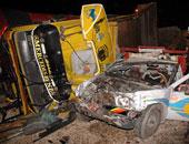 إصابة شخصين فى حادث تصادم سيارتين بالقرب من كمين الطرق بأسيوط