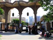 الشرطة تضبط شارات رابعة فى حقيبة طالبة بالأزهر أمام المدينة الجامعية