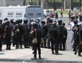الأمن يقنع أهالى الصف بفتح الطريق بعد قطعه بسبب اختفاء فتاة