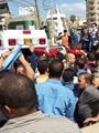 الآلاف يشيعون جثمانى شهيدى سيناء بالدقهلية فى جنازة عسكرية مهيبة