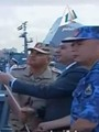 الرئيس يرفع العلم المصرى على الوحدات البحرية الجديدة بالإسكندرية