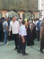 زحام أمام شباك تذاكر حجز قطارات الصعيد