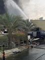 """حريق """"السويس للزيوت"""" يلتهم مخازن الشركة.. وإصابة 8 من رجال الإطفاء"""