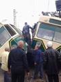 """بالصور.. أوناش النقل العام تسحب """"الترامين"""" المنقلبين إلى جراج المطرية"""