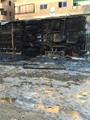 6 مسلحين يحرقون أتوبيسين نقل عام بالقليوبية بعد إنزال الركاب