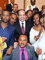 ملكة جمال إثيوبيا تلتقط صورًا مع الرئيس السيسى بقصر الاتحادية