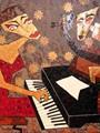 إحدى لوحات الفنانة آلاء نجم