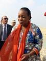 رئيسة أفريقيا الوسطى فى موقع مشروع قناة السويس