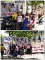 فرنسيون وعرب يتظاهرون ضد زيارة تميم لفرنسا