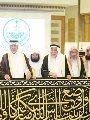 بالصور.. تسليم كسوة الكعبة المشرفة لكبير سدنة بيت الله الحرام
