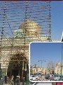 مسجد السيدة نفيسة يتزين بالأنوار