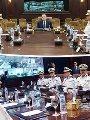 جانب من اجتماع وزير الداخلية مع القيادات الأمنية