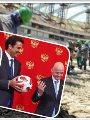 تميم لدى استلامه الكرة من بوتين ومواقع بناء كاس العالم واردوغان