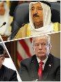 أمير الكويت وتميم والرئيس الأمريكى وزعيم كوريا الشمالية
