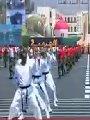 فيديو.. طلبة الكلية الحربية يستعرضون الفنون القتالية أمام الرئيس السيسى