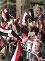 الجالية المصرية تحتشد أمام مقر إقامة الرئيس السيسي بنيوريوك