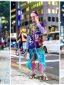 أزياء التسعينات تسيطر على موجات street style فى أسبوع الموضة بطوكيو