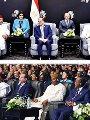 """السيسى يفتتح """"منتدى أفريقيا 2018""""بشرم الشيخ.. ويؤكد: مصر فخورة بانتمائها للقارة السمراء.. ونتطلع لزيادة الاستثمارات من خلال تنفيذ مشروعات مشتركة وعابرة للحدود.. العالم ينظر لقارتنا باعتبارها أرض الفرص الواعدة"""