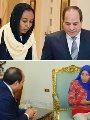 الرئيس السيسي ونحمدو سائقة الميكروباص وفتاة التروسيكل