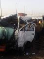 إصابة 19 شخصا فى حادث اصطدام أتوبيس مع سيارة نقل بالعلمين الجديدة