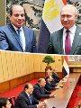 الرئيس عبد الفتاح السيسي ونظيره الروسى فلاديمير بوتين