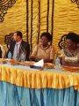 أهالى قرية بالفيوم يدعون رئيسة البرلمان الأوغندى لتناول فطير مشلتت.. صور