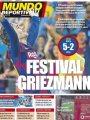 """""""مهرجان جريزمان"""".. الصحافة الإسبانية تحتفل بتألق نجم برشلونة ضد بيتيس"""