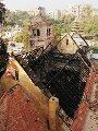 حريق كنيسة مارى جرجس بحلوان.. استدعاء الكاهن لسماع أقواله