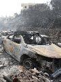 صور.. أثار كارثية لحرائق اجتاحت مساحات واسعة من الغابات فى لبنان