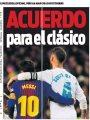 معركة الكلاسيكو بين رابطة الليجا ضد البارسا والريال حديث صحف إسبانيا