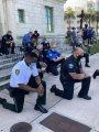 """بـ""""انحنائه على الركبة"""".. الشرطة الأمريكية تعتذر عن مقتل جورج فلويد.. صور"""