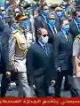 الرئيس السيسي يتقدم الجنازة العسكرية للفريق محمد سعيد العصار (فيديو وصور)