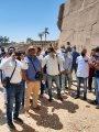 صور.. نقابة المرشدين السياحيين بالأقصر تواصل جولاتها وتزور معابد الكرنك لتشجيع السياحة